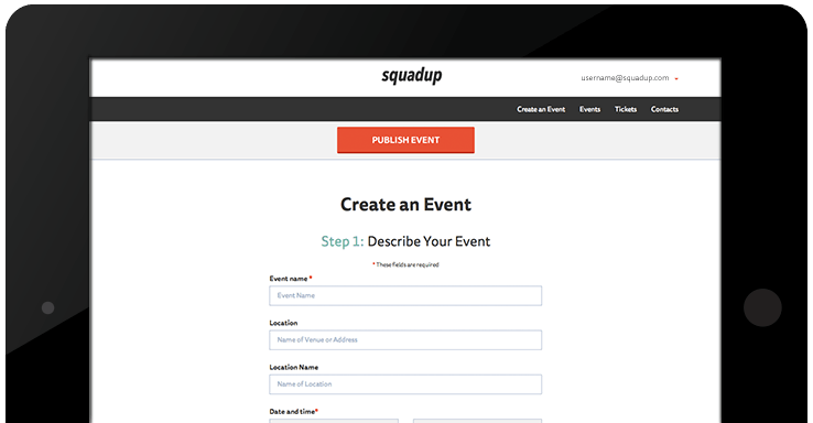 Img create an event